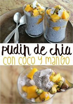 Continuando con las recetas de postres saludables, hice un pudín de chia con coco (si, con coco de verdad) además tiene mango y pistacho. El resultado superó mis expectativas. ¡Quedó riquísimo!