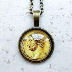#ArtPassionBijoux bySara, #italian #handmade #jewelry inspiredBy #art - #Ancient #roman #coin #medallion, #Hadrian, IIth century AC, #archaeology #history #numismatic