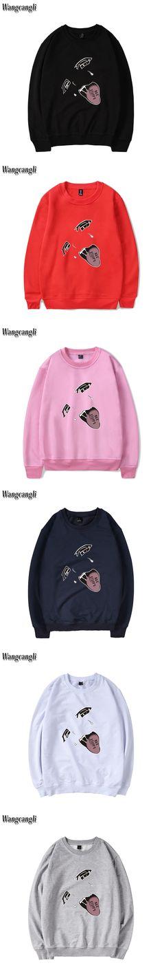 AGEGAO JP Popular Culture printing men cotton sweatshirt O-neck long-sleeved leisure sweatshirt men and women street sweatshir