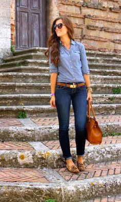 Look Calça Jeans: Camisa + Slipper