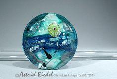 Splish and a Splash Art Glass 37mm Focal bead by AstridRiedel, $75.00