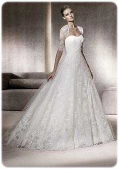 traditional lace elegant strapless with shall