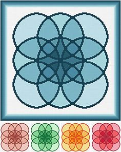 Bunches of Buddles cross stitch pattern.