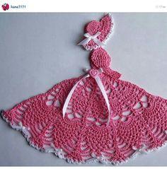 New Handmade Pink Crinoline Southern Belle Crochet Doily Appliques Au Crochet, Crochet Dollies, Crochet Doily Patterns, Crochet Girls, Crochet Home, Thread Crochet, Irish Crochet, Crochet Motif, Crochet Crafts