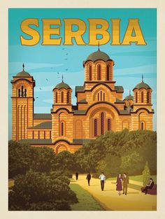 Anderson Design Group – World Travel – Serbia Vintage Travel Posters, Vintage Postcards, Serbia Travel, Travel Ads, Travel Photos, Tourism Poster, Voyage Europe, Travel Illustration, World Photography