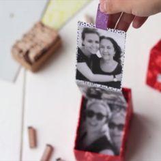 DIY Foto-Leporello – presents for boyfriend diy Birthday Rewards, Birthday Presents, Handmade Birthday Gifts, Handmade Christmas, Diy Photo, Diy Cadeau, Holiday Break, Inexpensive Gift, Business Gifts
