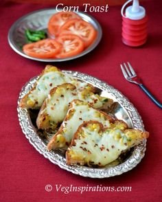 Veg Inspirations: Corn Cheese Toasts- Open Sandwich with sweet corn and cheese (With Stepwise pictures)