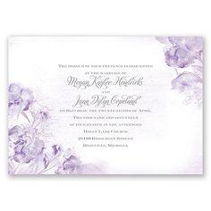 I Dream of Peonies Wedding Invitation in Soft Violet by David's Bridal #purpleweddings #weddinginvitations