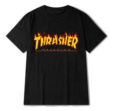 Eqmpowy 2017 thrasher T Shirt Men Women Skateboards tee Short Sleeve Skate T shirts Tops Hip Hop T shirt Homme Man Trasher