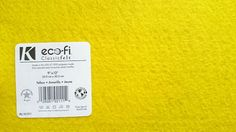 Felt - Yellow - Kunin Eco Rainbow Classic Felt Made from Recycled Plastic Bottles Eco-Fi Eco Friendly Recycled Polyester by LoveEllieBagMaking Find it now at http://ift.tt/2e5g0OM!