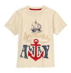 NWT Gymboree STRIPES & ANCHOR Anchors Away Tee, TShirt  Available in our online store at http://stores.ebay.com/starbabydesignshomestore