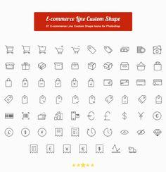 67 E-commerce Line Custom Shape Icons