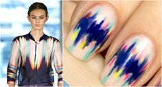 Nail art inspired by the runway