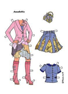 Karen`s Paper Dolls: Annabella 1-2 Paper Doll in Colours. Annabella 1-2…