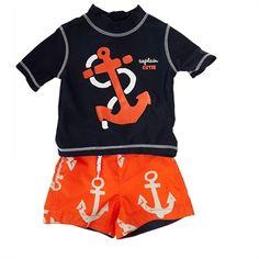Carters® Infant Boy Anchor Rash Guard Set #VonMaur #Carters #Anchor #Graphic