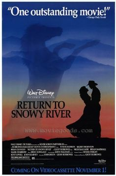 Return to Snowy River Movie Poster x 40 Inches - x -(Tom Burlinson)(Sigrid Thornton)(Brian Dennehy)(Nicholas Eadie)(Mark Hembrow)(Bryan Marshall) Movie Info, See Movie, Movie Tv, Man From Snowy River, Best Movie Posters, Movies Worth Watching, Walt Disney Pictures, Western Movies, About Time Movie