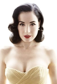 Vintage Hairstyles - Dita I want your perfect porcelain skin!