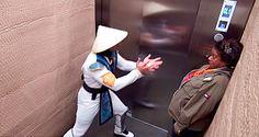 FATALITY! Pegadinhas de Mortal Kombat no elevador