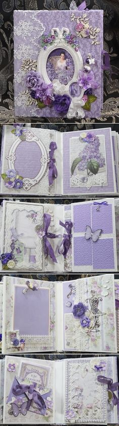 Terry's Scrapbooks: Stamperia Lilac Flowers Mini Album Reneabouquets Design Team Project