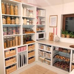 Ikea home utility room storage organisation for food, pasta, grains etc.