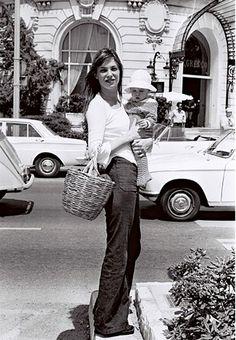 Jane Birkin wide leg trousers