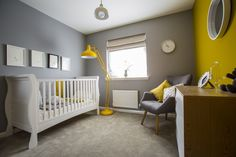 No pink or blue in the contemporary nursery of the showhome at Walker Group's Ashton Gardens in Kirkliston
