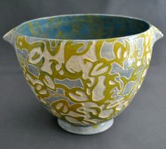 Shade Patterns  OOAK hand made sgraffito stoneware por LusterWear