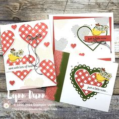 Stampin' Up! Lots of Heart Bundle   Thank You Card Ideas   Lynn Dunn St Patricks Day Cards, Love Anniversary, Valentine Greeting Cards, Heart Cards, Card Sketches, Valentine Crafts, Stampin Up Cards, Thank You Cards, Birthday Cards