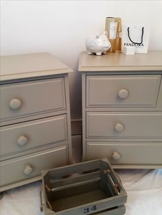 Client commission items in gorgeous Farrow & Ball paint. Farrow And Ball Paint, Farrow Ball, Hand Painted Furniture, Dresser As Nightstand, Shabby Chic, Colours, Design, Home Decor, Style