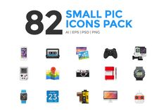 Small pic icons pack by michalkulesza on @creativemarket