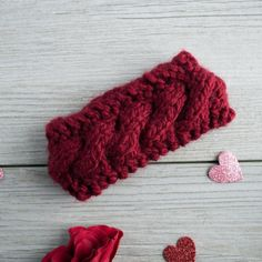 This Knitted Baby Girl Headband is a Cute, Chunky, Cozy