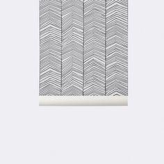 Herringbone behang