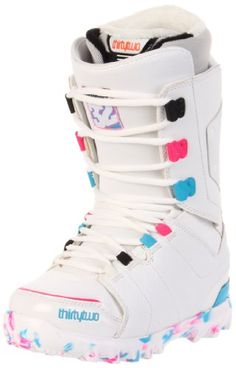 Snowboard Boots Women 32 Lashed 11 12 Women White pink blue 7.5 325dc6802