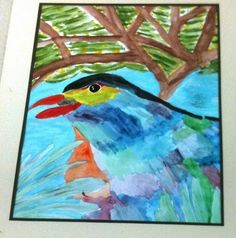 Lovely painting by a student of Davidson's school, San Rafael, CA - Marin County