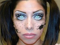 ▶ Cracked Baby Doll Makeup Tutorial - YouTube