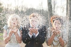 Been missing the snow this winter, so why not make your own?  Image by Stacy Able Photography, styled by Ashley Weddings and Events.