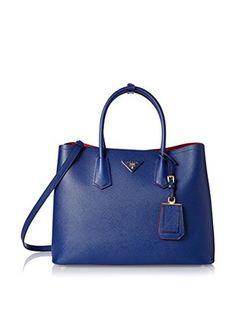 Prada Women's Tote Bag, Cornflower Blue/Bluette