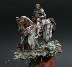 """Saint George"" by Michael Volquarts. 75mm scale (1/24 scale) resin kit. Sculpted by Michael Kontraros. #dragon - Putty&Paint"