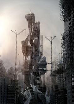 """Megalomania"" perceives the city as a labyrinth of unfinished, incomplete and broken architecture"
