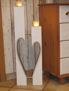 Holzwurm – creative for home and garden, Netphen – Woodworking 2020 Woodworking Plans, Woodworking Projects, Diy Luminaire, Deco Table Noel, Wood Candle Holders, Ideias Diy, Wooden Crafts, Wood Pallets, Wood Art