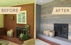Before And After Pictures Brick Fireplaces