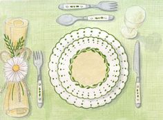 Rie Designed: A Sketch a Day-Day 294-Table setting