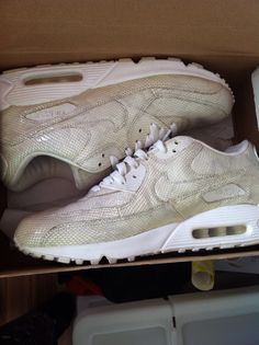 Nike AM90 White Snake Skin