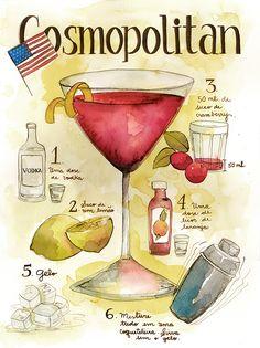 Classic Cosmopolitan/ fav drankje : 1 1/2 ounces vodka 1/2 ounce ...