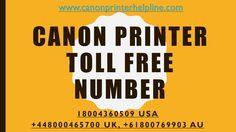 Canon Printer Toll Free Number 18004360509 | USA.CANON.COM