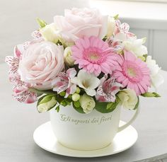 Same day flower delivery Heybridge Maldon by Flowers By Sarah Ann Florist your local flower shop, send flowers, wedding flowers & funeral flowers. Deco Floral, Arte Floral, Floral Design, Beautiful Flower Arrangements, Floral Arrangements, Silk Flowers, Beautiful Flowers, Teacup Flowers, Mothers Day Flowers
