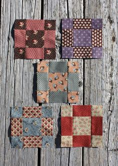 """Cutting instructions are for one block.  cut one 3"""" square - center   cut four 1-3/4"""" squares - corners   cut four 1-3/4"""" x 3"""" rectangles - sides  Square block to 5-1/2"""
