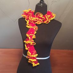 A personal favorite from my Etsy shop https://www.etsy.com/listing/225855396/harry-potter-gryffindor-inspired-scarf