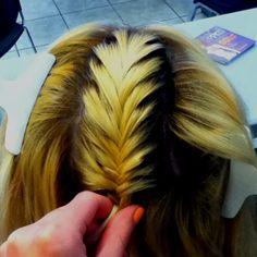 My fish tail braid on Danielle C .