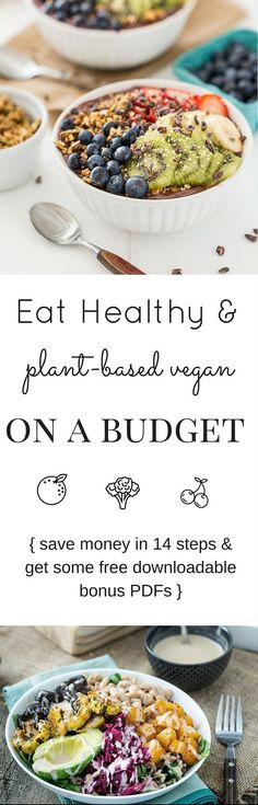 Eating #healthy #vegan foods doesn't mean you have to spend a lot of money. It's actually rather the opposite. Learn all about it in our free guide (there's a downloadable bonus with #recipes at the end!)